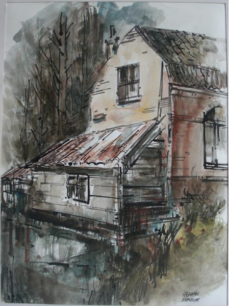 002c: Harry Balm; Schalkwijk; Aquarel
