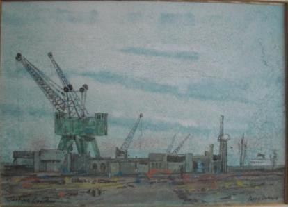 128, Poppe Damave, London-Wapping, Aquarel