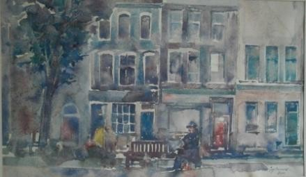 132, Poppe Damave, Soho, Aquarel
