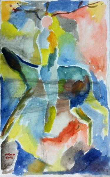 4524: Michael Rieu, the man and the beast 2012, aquarel