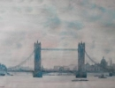 m023: Poppe Damave; London, Tower Bridge; Aquarel
